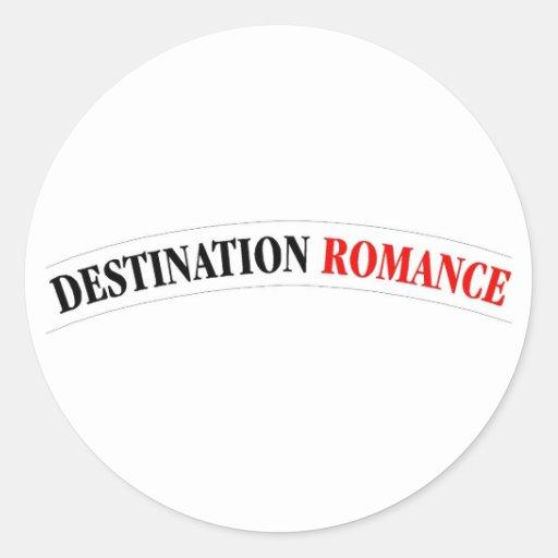 Romance del destino pegatina redonda