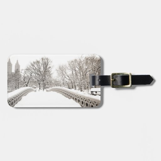 Romance del invierno del Central Park - puente del Etiquetas Bolsas