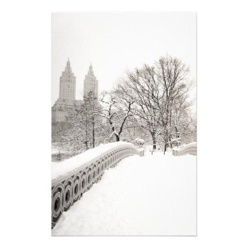 Romance del invierno del Central Park - puente del Papelería