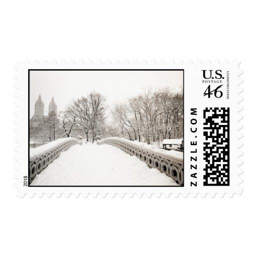 Romance del invierno del Central Park - puente del Sellos