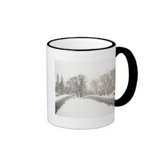 Romance del invierno del Central Park - puente del Tazas De Café