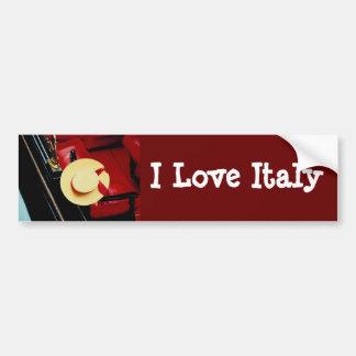 Romance del italiano del ~ del gorra de los gondol pegatina para auto