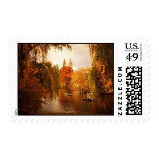 Romance del otoño del Central Park Sello