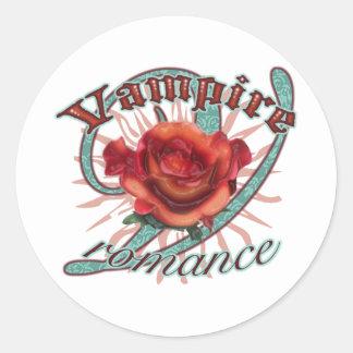 Romance del vampiro pegatina redonda