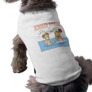 Romance del verano camisetas de mascota
