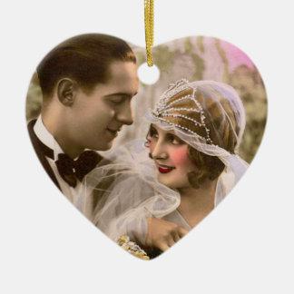 Romance doble ornaments para arbol de navidad