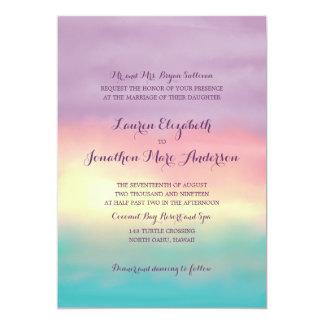 Romance el | de la puesta del sol que se casa invitación 12,7 x 17,8 cm