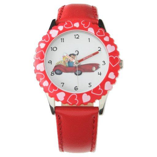 Romance en coche relojes de mano