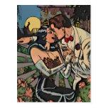 Romance en el claro de luna postal