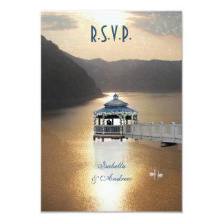 Romance en el lago invitación 8,9 x 12,7 cm