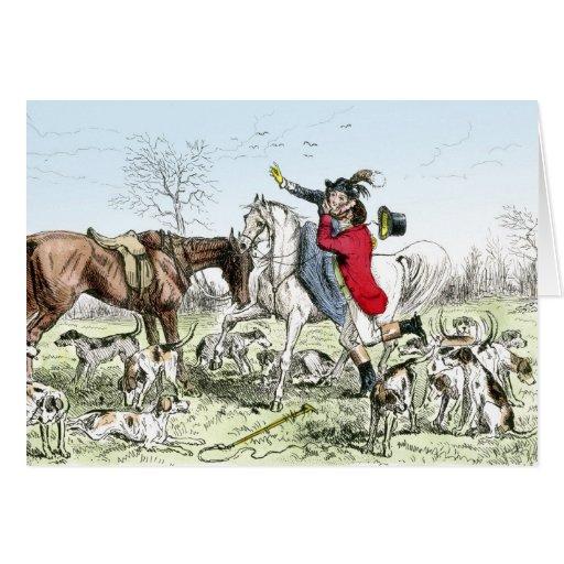 Romance en la caza tarjeta