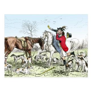 Romance en la caza tarjeta postal
