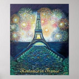 Romance en la impresión del poster de Francia