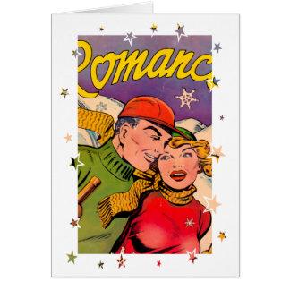 Romance en las cuestas tarjeta de felicitación