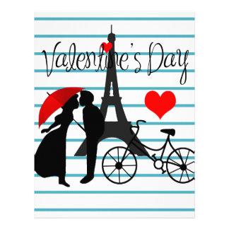 Romance en París Membrete A Diseño