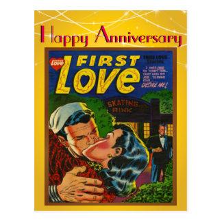 Romance First Love Comic Cover Vintage Anniversary Postcard
