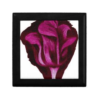 Romance floral de Borgoña del arte de los pasteles Caja De Joyas