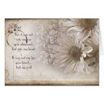 Romance floreciente tarjeta de felicitación