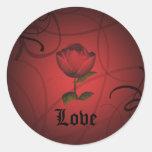 Romance gótico, amor etiquetas redondas