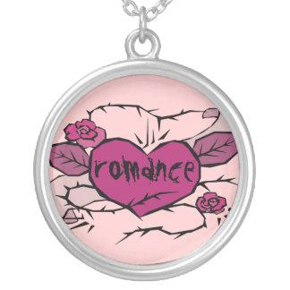 romance heart old school  tattoo pendant