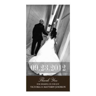ROMANCE IN BLACK  | WEDDING THANK YOU CARD PHOTO CARD
