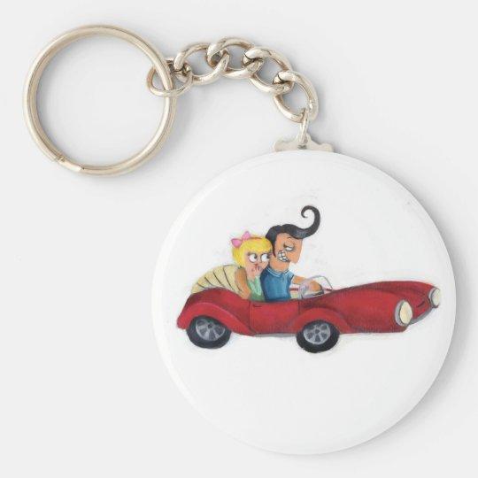 Romance in Car Keychain