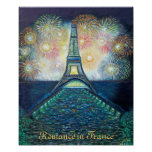 Romance in France Poster Print