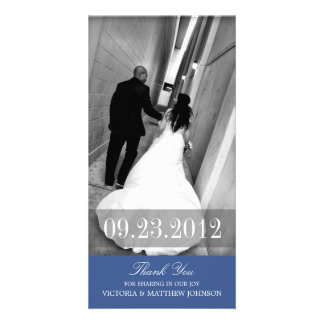 ROMANCE IN NAVY BLUE | WEDDING THANK YOU CARD PHOTO CARD