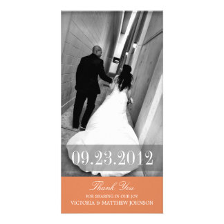 ROMANCE IN ORANGE | WEDDING THANK YOU CARD