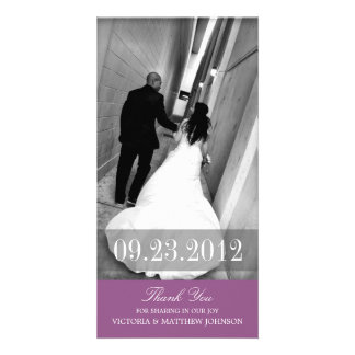 ROMANCE IN PURPLE | WEDDING THANK YOU CARD