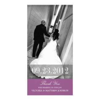 ROMANCE IN PURPLE | WEDDING THANK YOU CARD PHOTO CARD