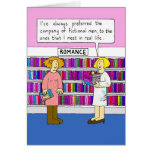 Romance in the library. card