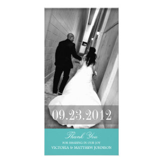 ROMANCE IN TURQUOISE | WEDDING THANK YOU CARD