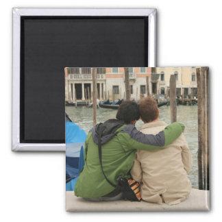 Romance in Venice 2 Inch Square Magnet