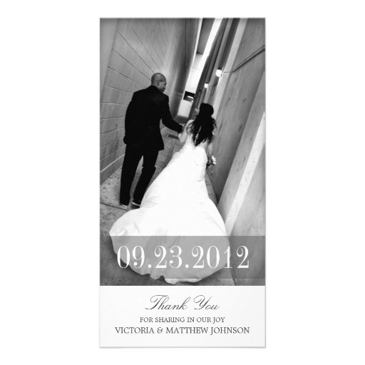 ROMANCE IN WHITE | WEDDING THANK YOU CARD PERSONALIZED PHOTO CARD