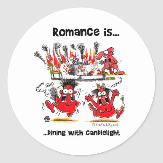 Romance is... Dining With Candlelights Classic Round Sticker