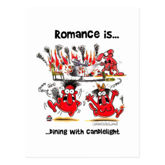 Romance is... Dining With Candlelights Postcard