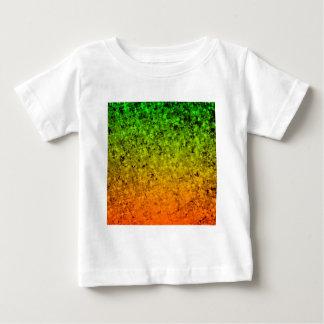 ROMANCE ME, Island Ombre Neon Orange Green Stars Baby T-Shirt
