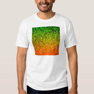 ROMANCE ME, Island Ombre Neon Orange Green Stars T-shirt