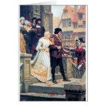 Romance medieval del boda tarjeta de felicitación