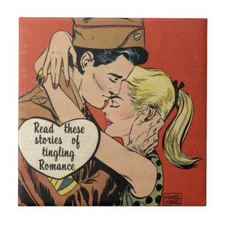 Romance militar azulejo cuadrado pequeño