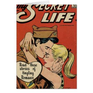 Romance militar tarjeta de felicitación