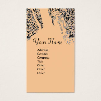 ROMANCE  MONOGRAM,black and pink Business Card