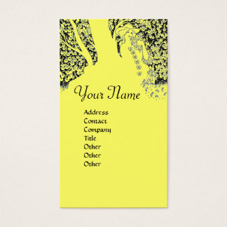 ROMANCE  MONOGRAM , black and yellow Business Card