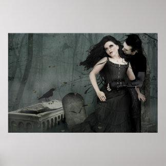 Romance negro del corazón póster