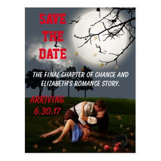 Romance Novel Style Save the Date Postcard