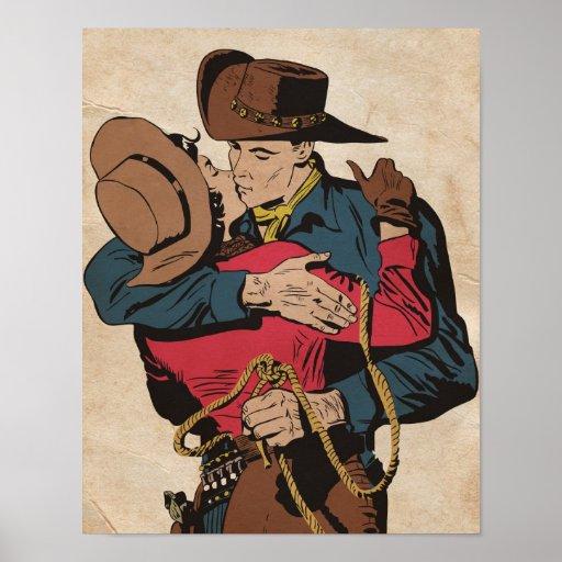 Romance occidental póster
