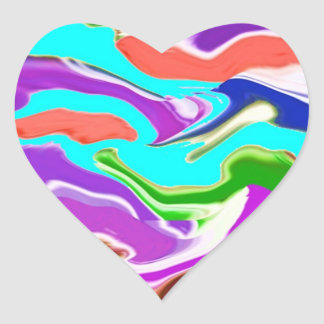 Romance of Solitude - Deep Water, Purple n Smiles Heart Sticker