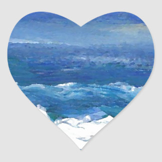 Romance of the Ocean - CricketDiane Ocean Sea Art Heart Sticker