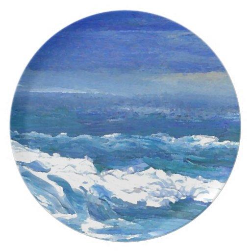 Romance of the Ocean - CricketDiane Ocean Sea Art Dinner Plate